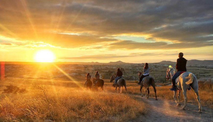 sunset horse riding tour cappadocia